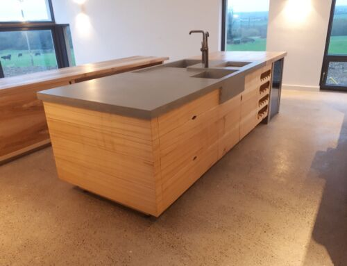 Solid Ash & Formed Concrete Kitchen – Sacha Whelan
